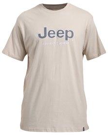 Jeep Short Sleeve Applique/Emb T-Shirt Stone