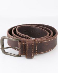 Jeep 40mm Leather Fashion Belt Brown