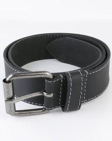 Jeep 38mm Leather Fashion Belt Black