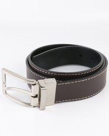 Jeep 35mm Formal Reversible Leather Belt Black/Brown
