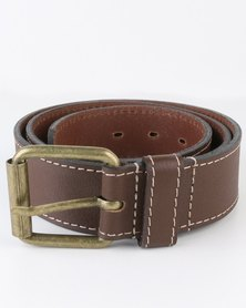 Jeep 38mm Leather Fashion Belt Brown