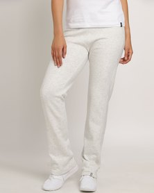 Jeep Brushed Fleece Trackpants With Embroidery Oatmeal
