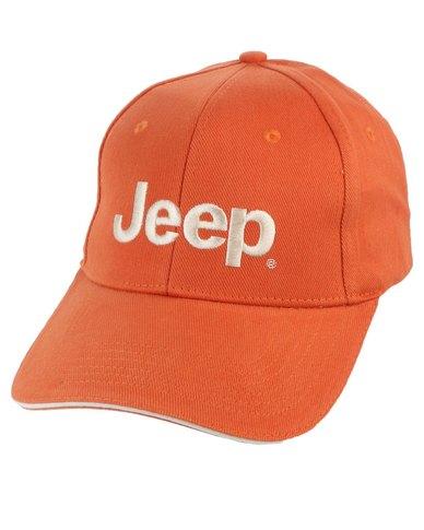 jeep basic peak cap orange bearded smiley face baseball logo caps hat