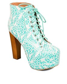 Jeffrey Campbell Lita Ankle Boots Lace Blue