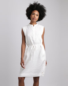 Jenja Sleeveless Shirt Dress Milk
