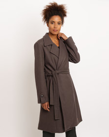 Jenja Belted Coat Taupe