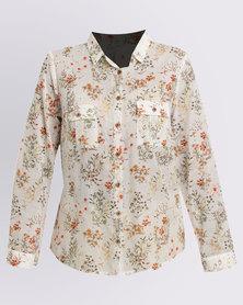 Jenja Pocket Shirt Flower Print Multi