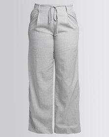 Jenja Wide Leg Pant Ink Stripe Grey