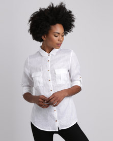 Jenja Pocket Shirt White