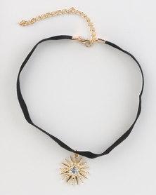 Jewels and Lace Stardaze Choker Gold