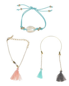 Jewels and Lace Tassel Stacker Multi