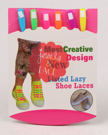 Jewels & Lace 6 Pack Neon Shoelaces Multi