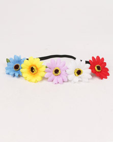 Jewels & Lace Floral Headband Multi