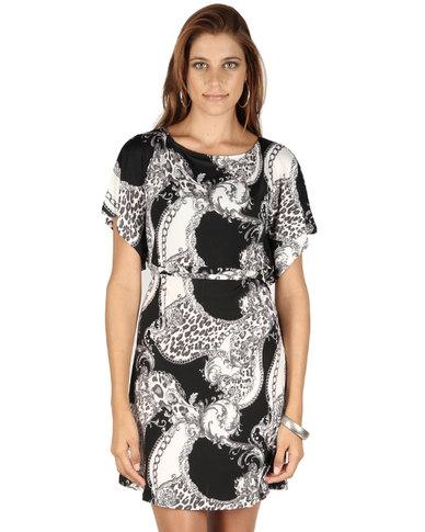Jo Carlin Butterfly Dress Black