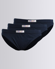 Jockey 3PK Plain Boys Skants Navy