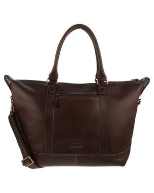 John Buck Louise Womens Handbag Dark Brown