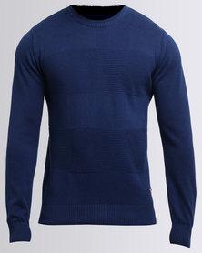 Jonathan D Avenger Crew Knitwear Indigo