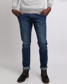 Jonathan D Vegas Straight Leg Jeans Mid Blue