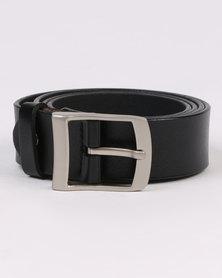 Joy Collectables Skinny Leather Belt Black