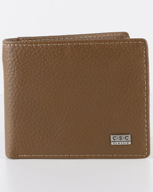 Joy Collectables Mens Leather Wallet Brown
