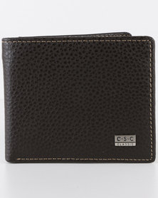 Joy Collectables Mens Leather Wallet Choc Brown
