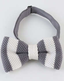 Joy Collectables Fashion Bow Tie Grey/White