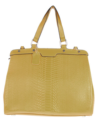 Joy Collectables Structured Tote Handbag Yellow