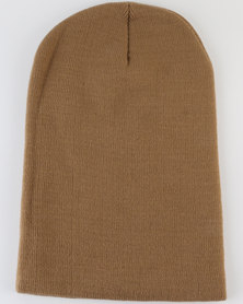 Joy Collectables Mens Winter Beanie Brown