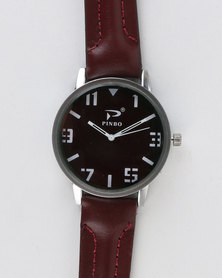 Joy Collectables Mens Big Dial Watch Red