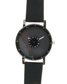Joy Collectables Ladies Colour Strap Watch Black