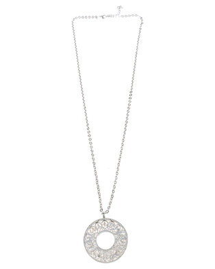 Joy Collectables Circular Pendant Necklace Silver-tone