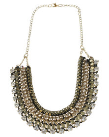 Joy Collectables Fashion Multi Strand Necklace Gold-tone
