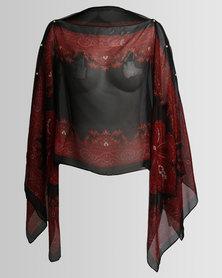 Joy Collectables Short Kaftan Black/Red
