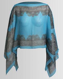 Joy Collectables Short Kaftan Light Blue