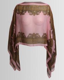 Joy Collectables Short Kaftan Pink/Gold