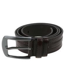 Joy Collectables Mens Plain Belt Brown