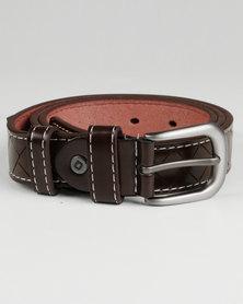 Joy Collectables Mens Thin Plain Belt Brown