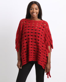 Joy Collectables Poncho Red