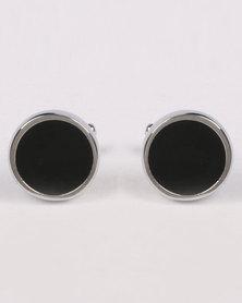 Joy Collectables Round Cufflinks Black