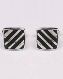 Joy Collectables Square Cufflinks Black/ White