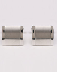 Joy Collectables Big Square Cufflinks Silver-Tone