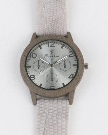 Joy Collectables Mens Colour Strap Watch Grey