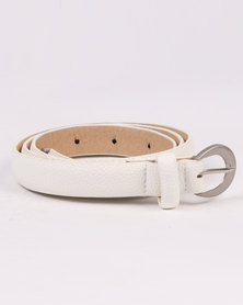 Joy Collectables Skinny Belt White