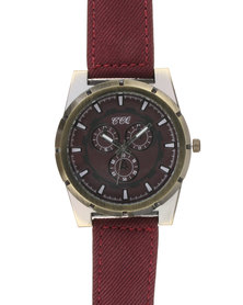 Joy Collectables Mens Colour Strap Watch Red