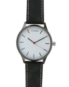 Joy Collectables Mens Thick Strap Watch Black