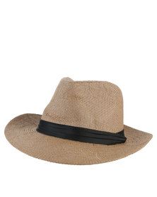 Joy Collectables  Summer Hat with Black Tape Beige