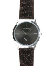 Joy Collectables Ladies Stitch Watch Brown