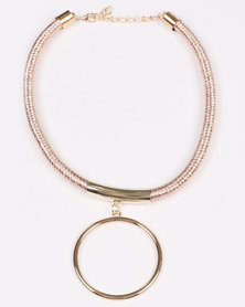 Joy Collectables  Mesh Necklace Gold-Tone