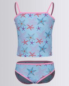 Just Jump! Starfish Print Tankini Multi