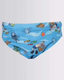 Just Jump! Scuba Boy Swim Briefs Multi
